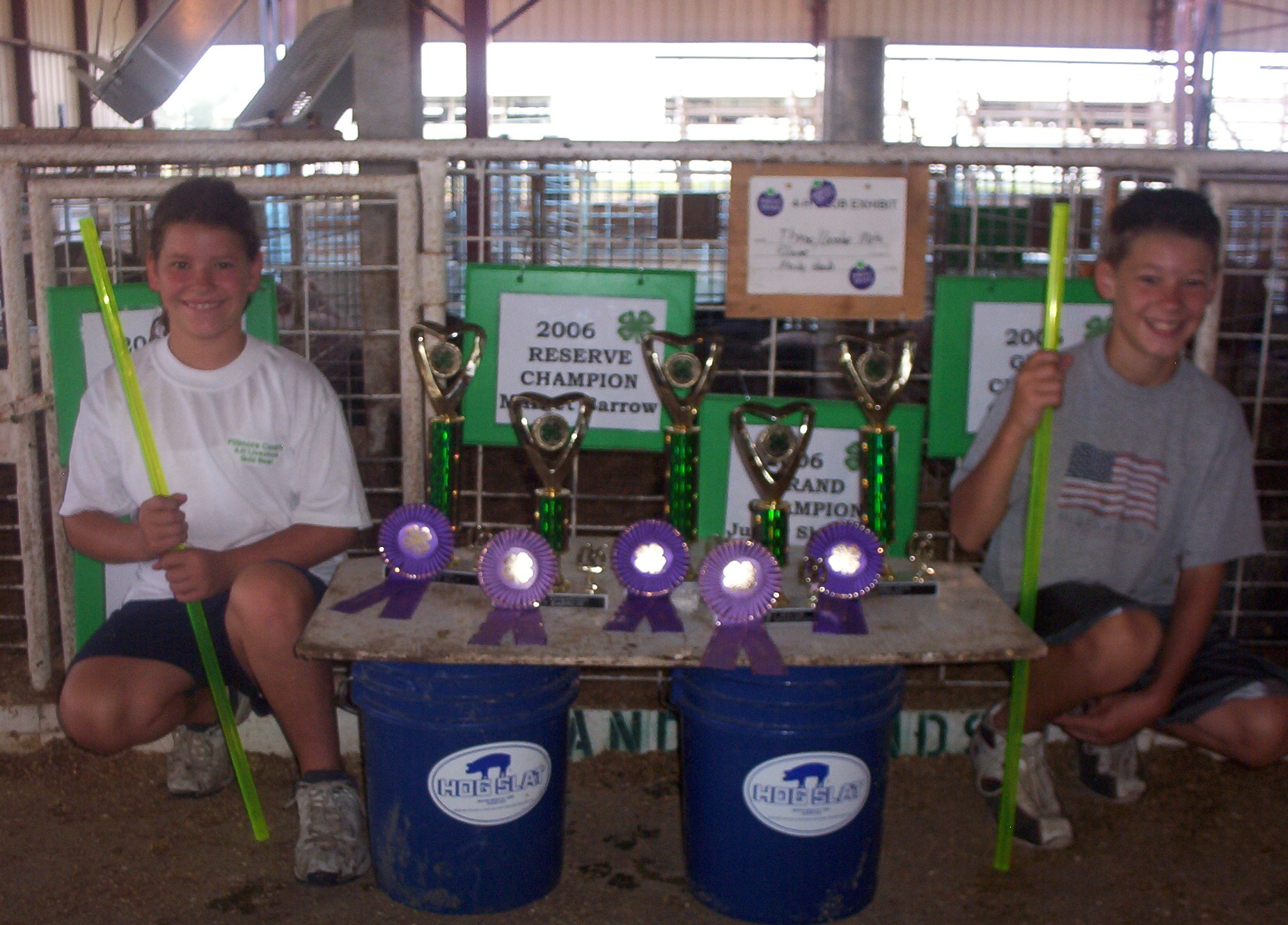 4-H Fair 2006 - Hog Slat